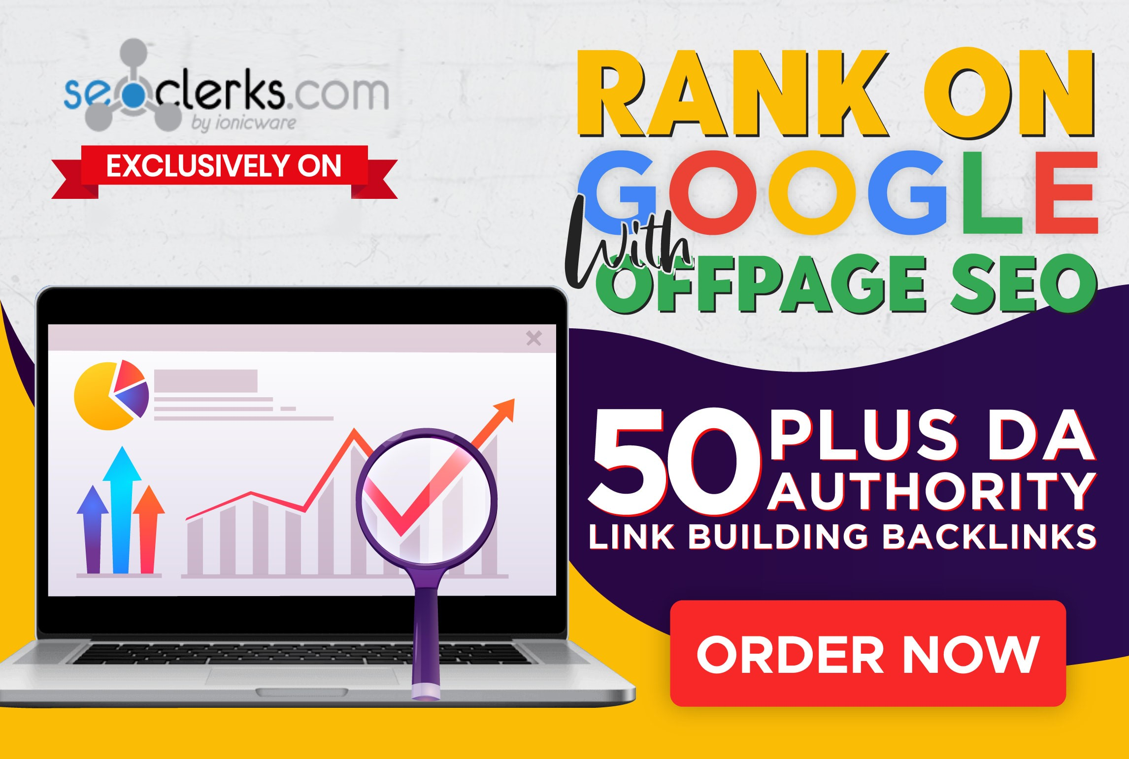 I Will Rank on Google With 100 Off Page SEO DA 50+ link Building Backlinks