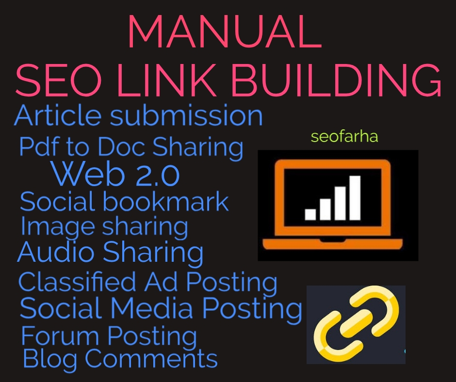 I Will Do Manual Seo Link BUILDING