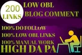 I will do 200 low obl blog comments
