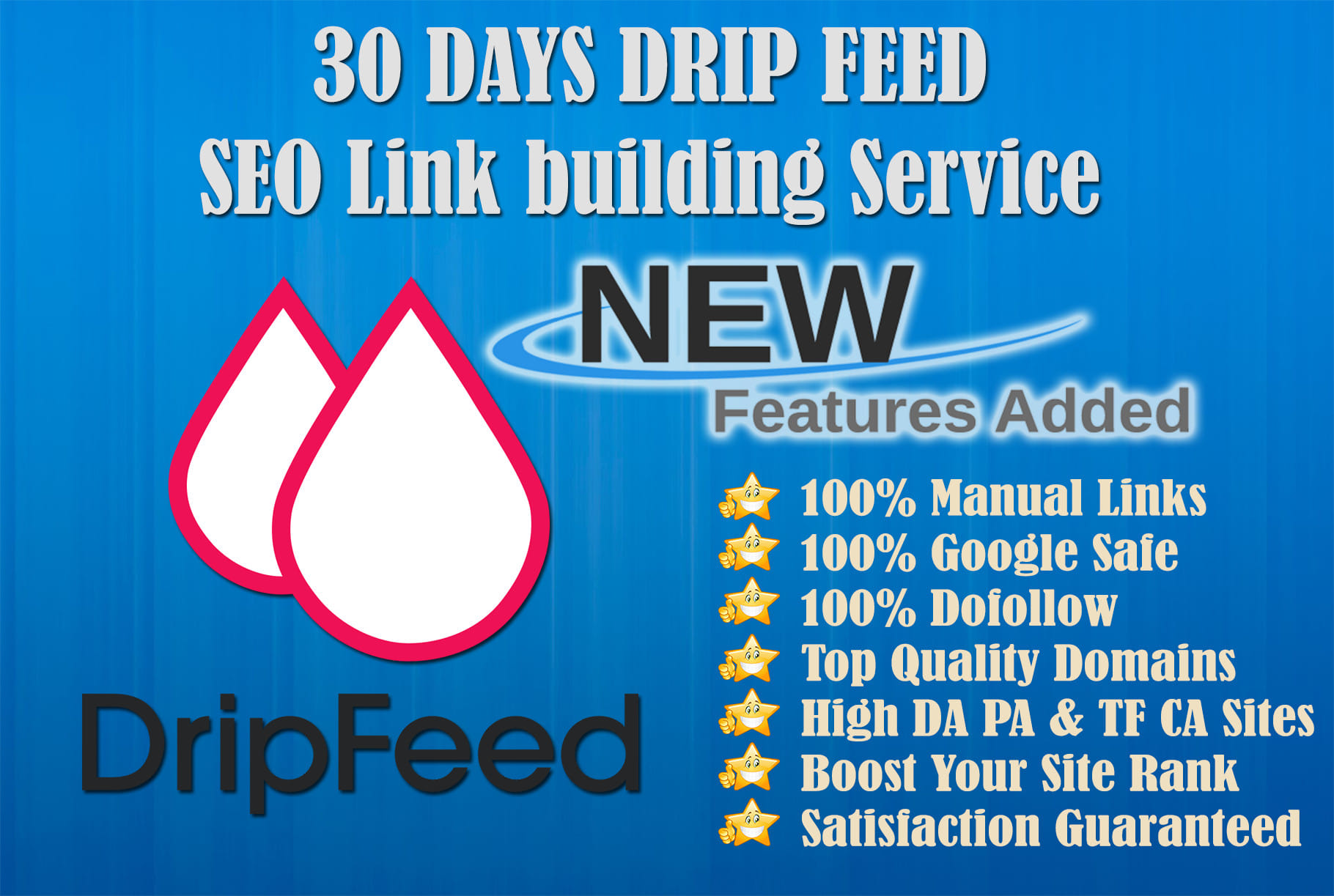 I will submit 30 days dripfeed seo link building service for daily update