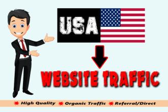 2000 Real Human Targeted USA traffic to your Website - Google Adsense safe and Good Alexa rank
