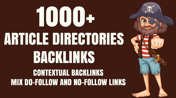 I will do 1000+ article directories contextual backlinks