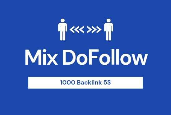 Get 1000 Mix platform Do Follow Backlinks