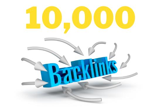 I will provide 10,000 dofollow backlinks