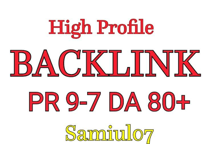 Manually Create HQ 100 Profile Backlink DA50+ PR9-5