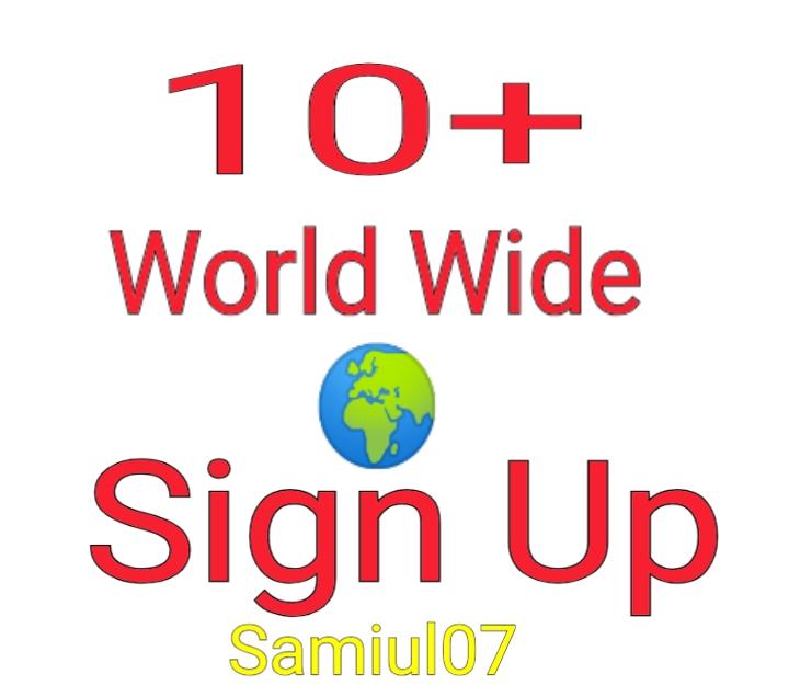 10+ World Wide Signups Or Registration For your Websites Or Referral Link