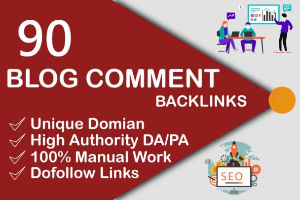 i will do 90 dofollow blog comments backlinks