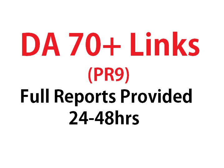 Get 5 PR9 - DA 70+ Backlinks in 24hours