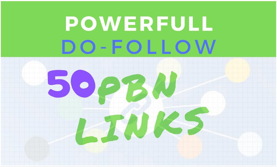 I will make 50 SEO pbn dofollow backlinks