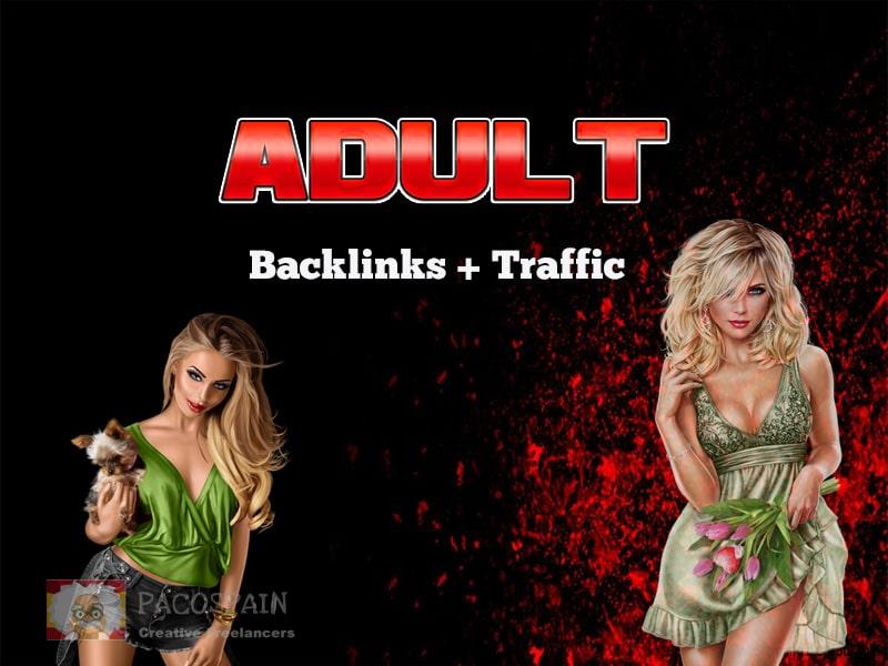 18+ xxx 200 backlinks for adult websites + traffic