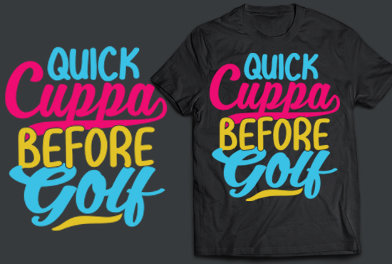 i will do typography and custom t shirt design