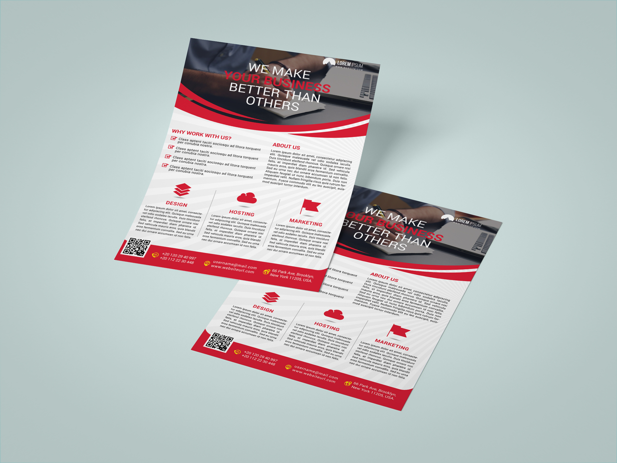 I will design professional flyer,  brochure and banner for you