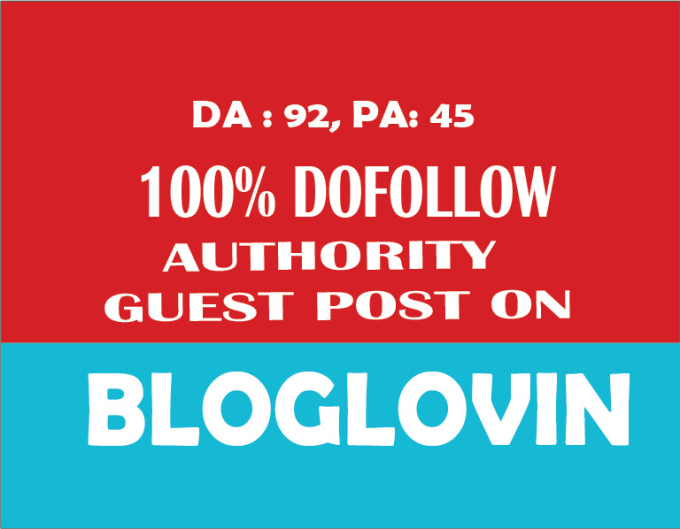 Write and publish seo article on bloglovin 2 dofollow backlink