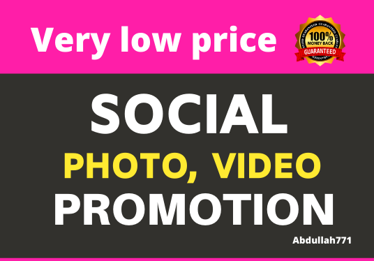 Add High Quality Video Promotion and Social Marketing