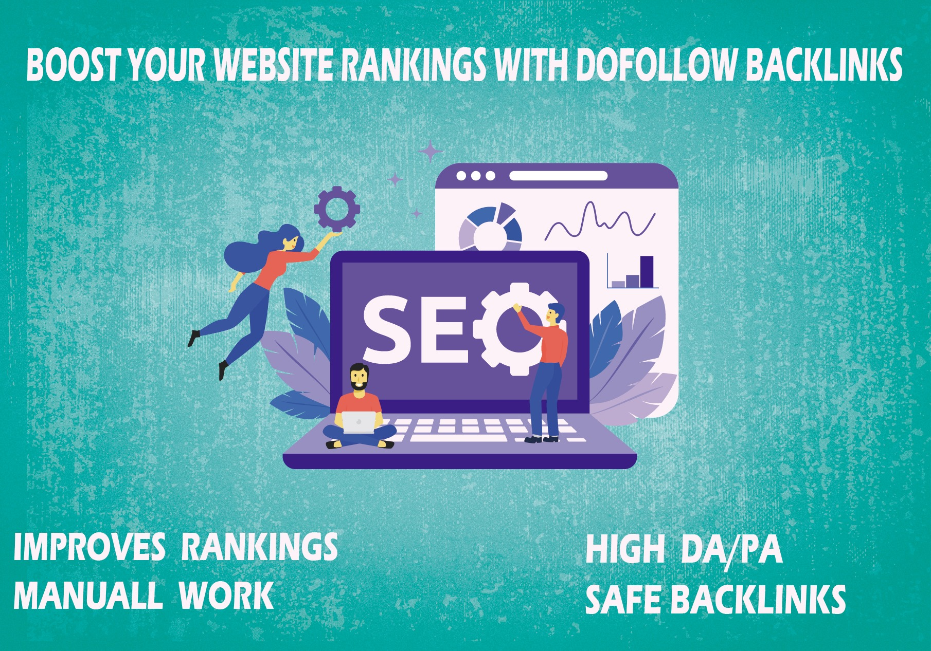 provide 100 high authority dofollow backlinks for your website ranking
