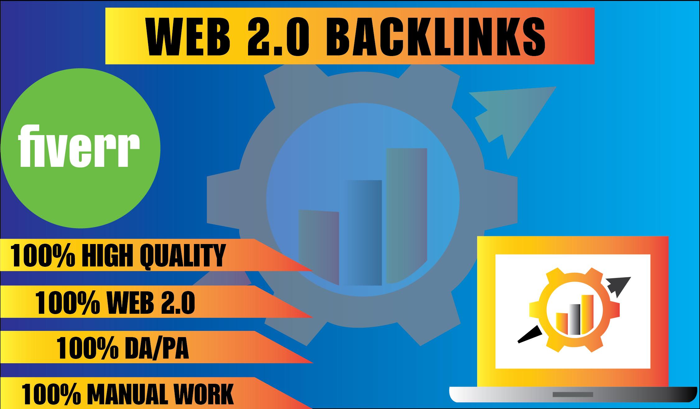 I will build 20 manually web 2 0 backlinks