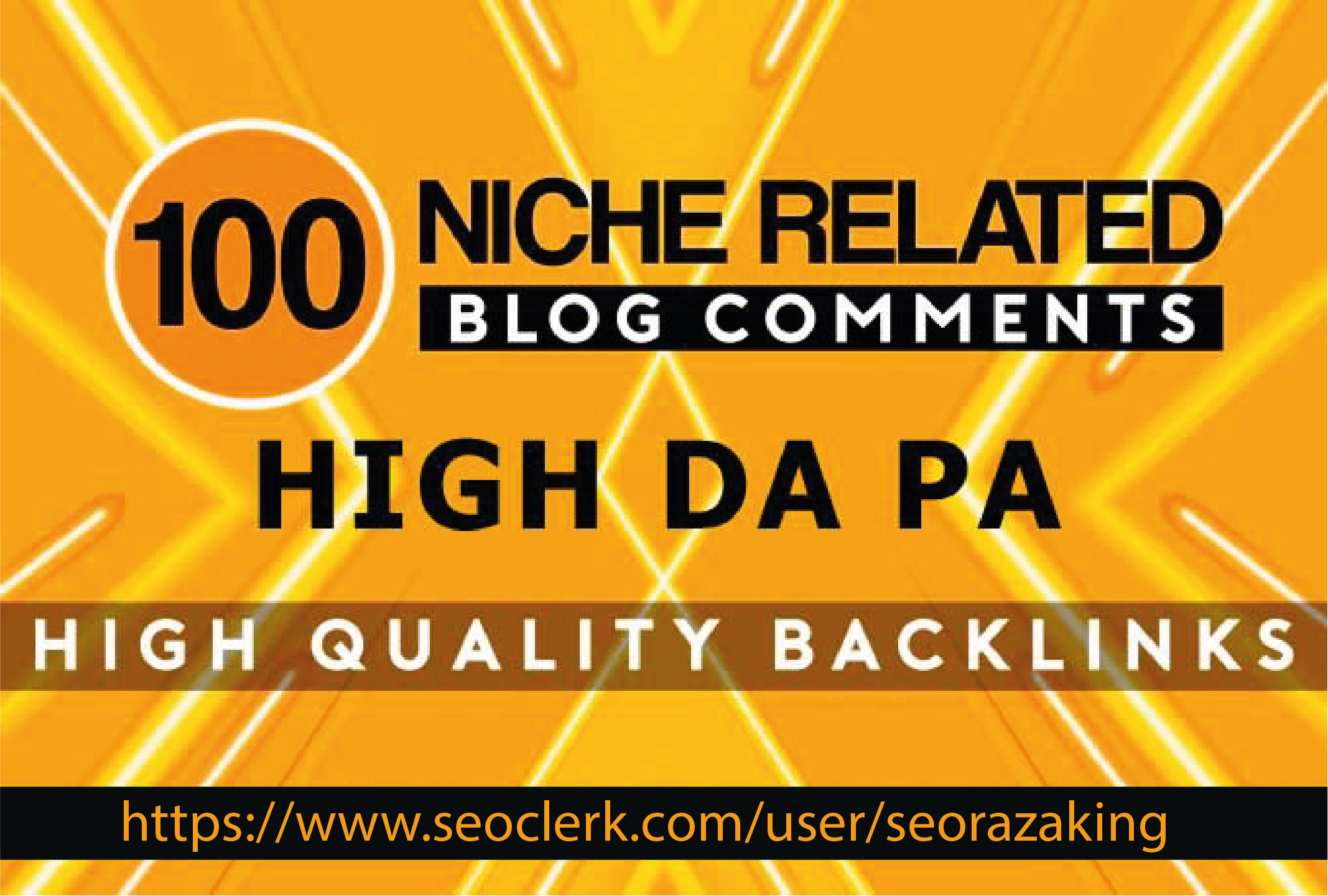 I will 100 niche relevant blog comments high quality backlinks