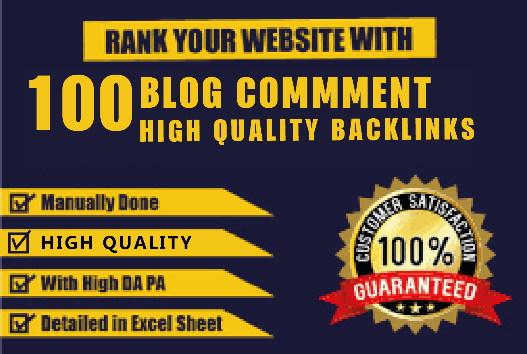 I will provide 100 blog comments high quality backlinks