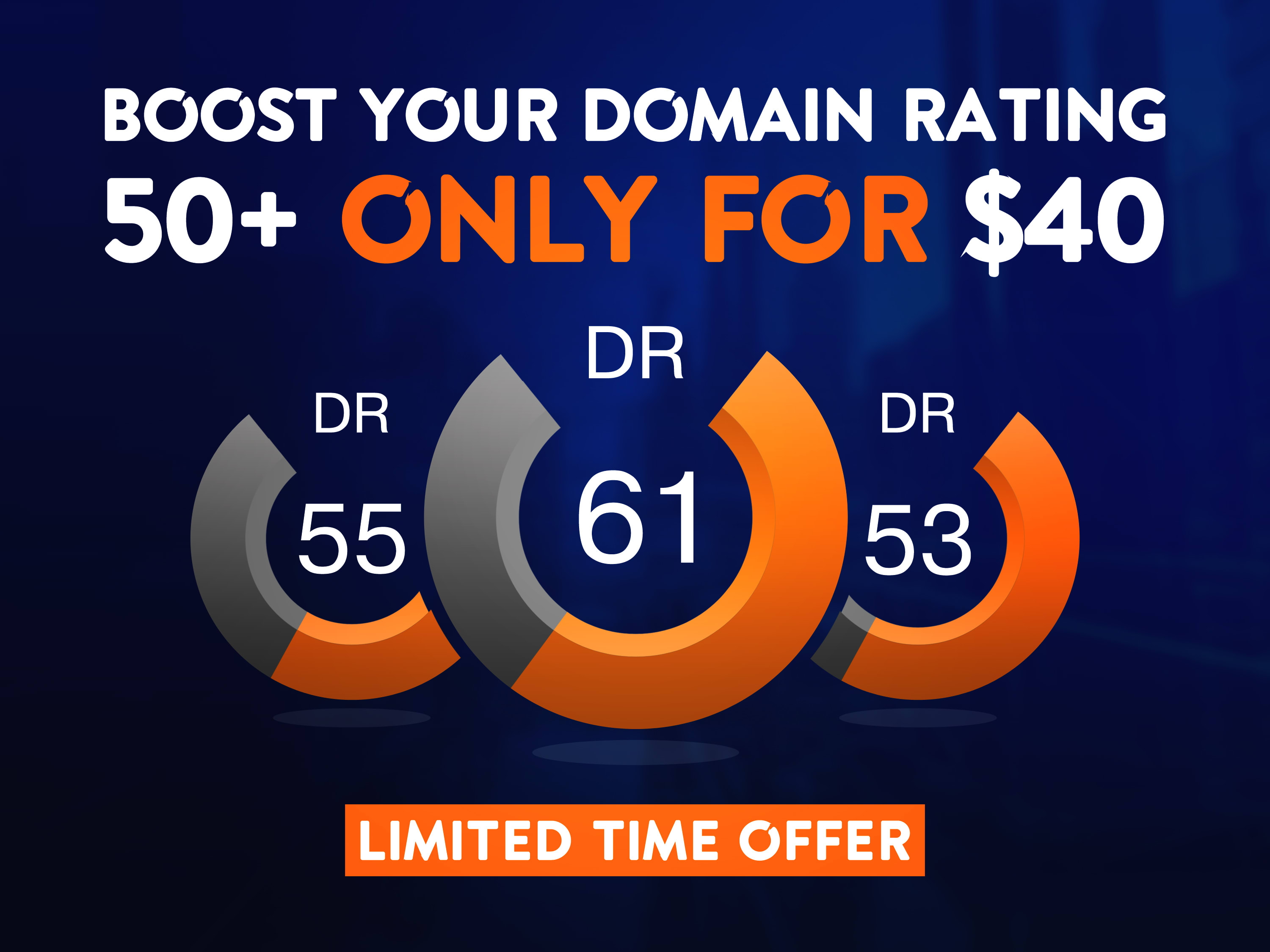 I will Increase Ahref Domain Rating, Ahref DR upto 40+