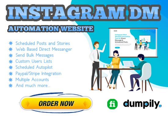 Instagram DM Automation Website for Passive Income