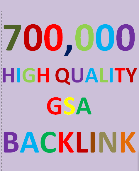 700k Backlinks campaign with GSA Ser for ranking