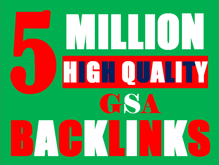 5 Millions Backlinks campaign with GSA Ser for ranking
