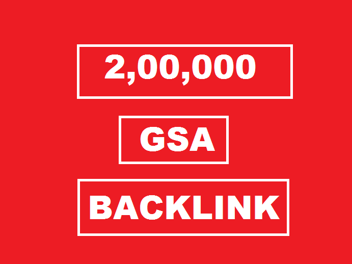 200k Backlinks campaign with GSA Ser for ranking