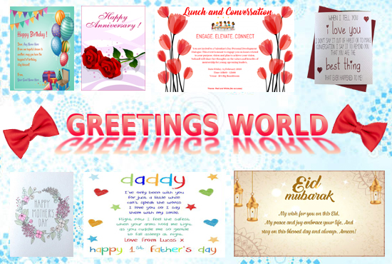 I will design greeting card for you