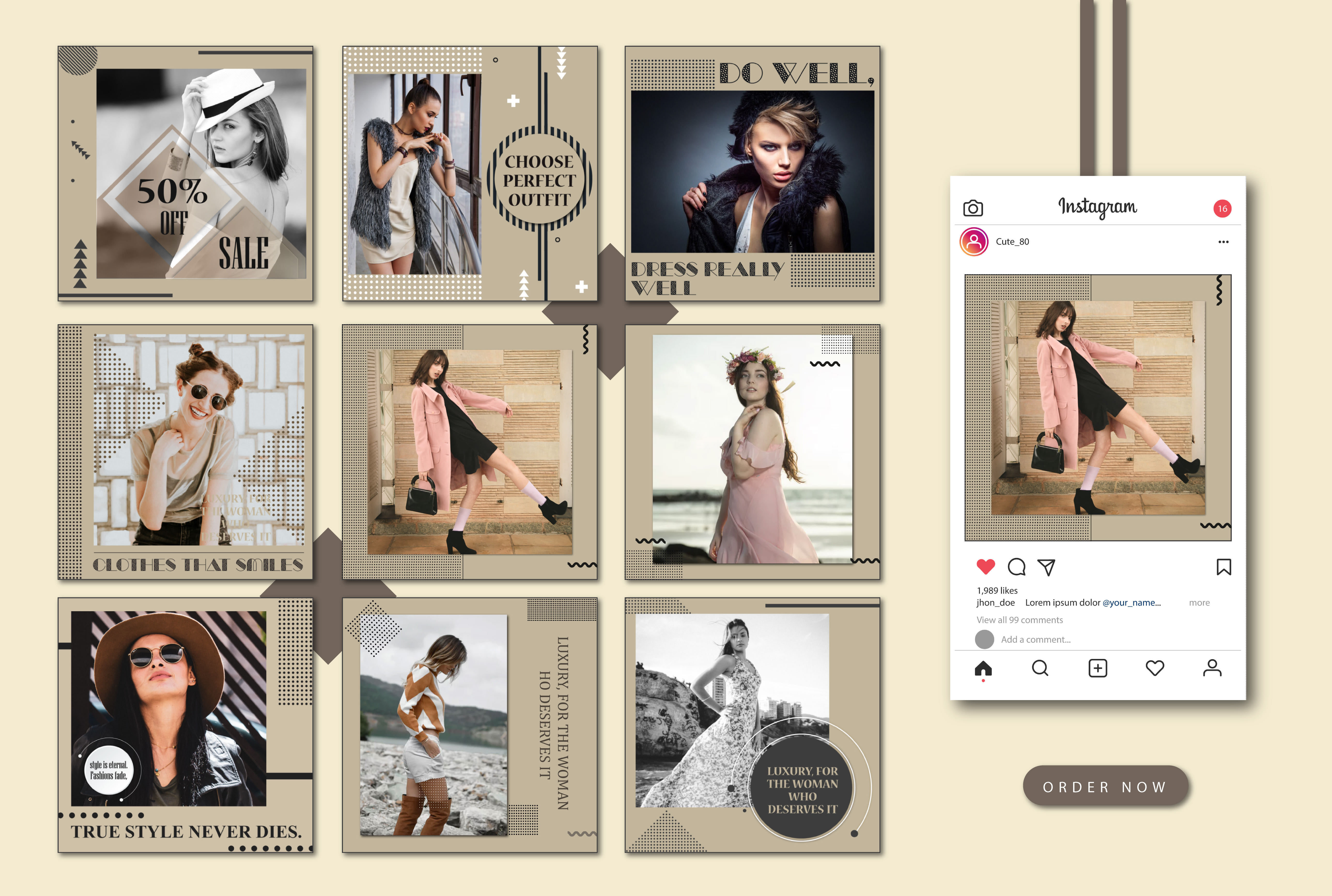 I will design instagram post images