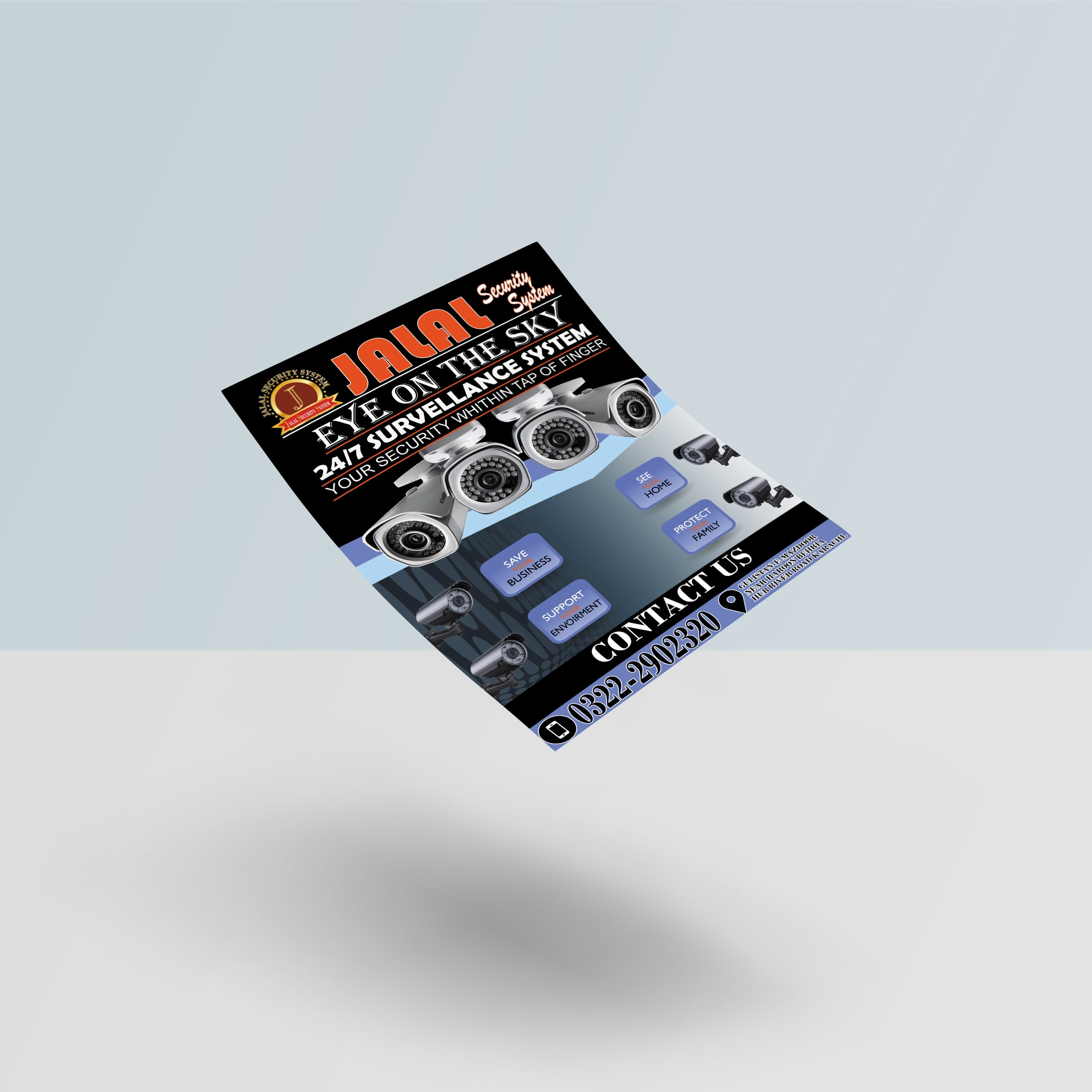 I will design modern pamphlet for you