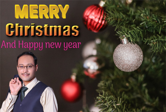 I will design Christmas card and New Year card