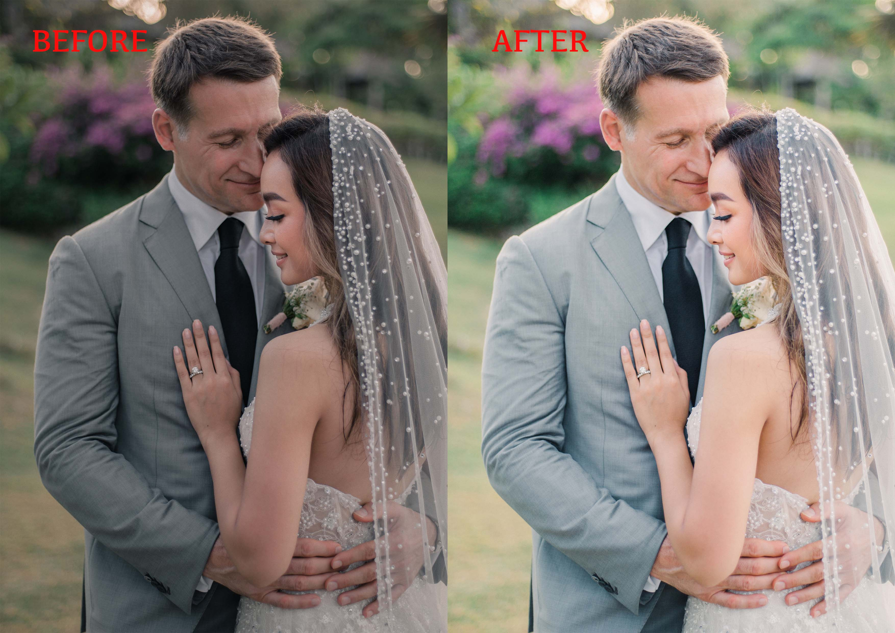 I will edit wedding pictures and color correction