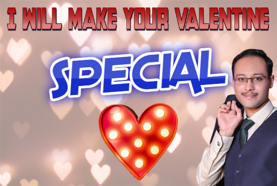 I will design valentine day card and video