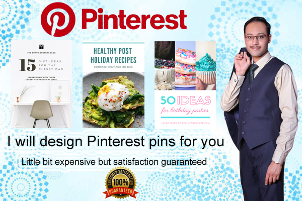 I will create beautiful pinterest pins for your blog posts