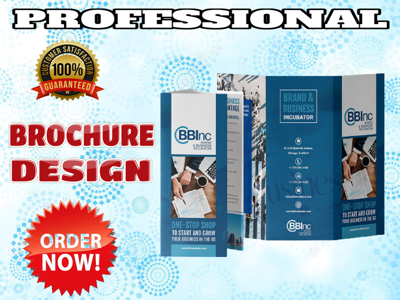 I will design a custom trifold or bifold brochure for you
