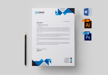 I will design simple and nice looking letterhead word template