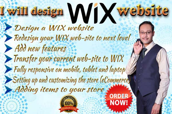 I will design your wix website