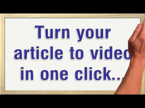 I will convert article,  blog and text into video