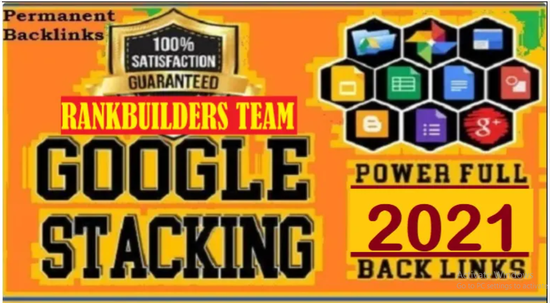 I will rank with google advanced stacking ranking booster backlinks