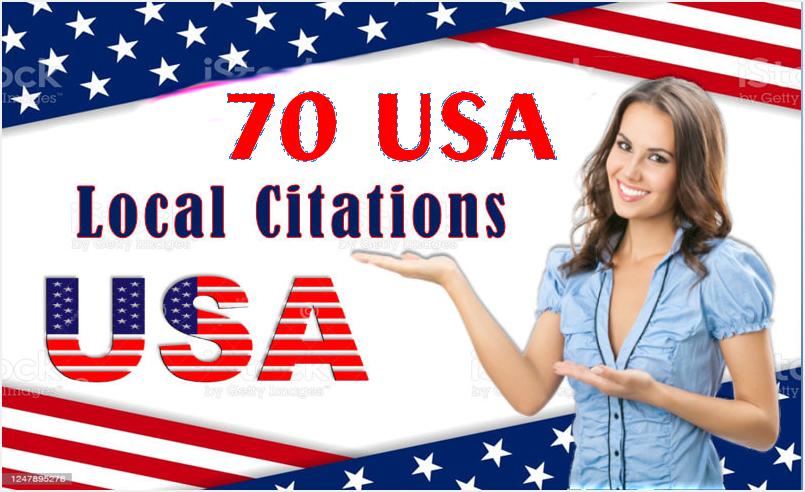 I will do top 70 USA local citations and directory submission loca seo