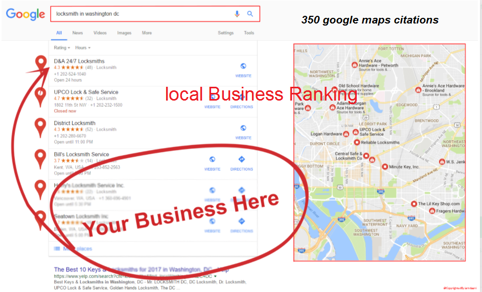 I will create 500 google maps citations with add driving route for local business local SEO