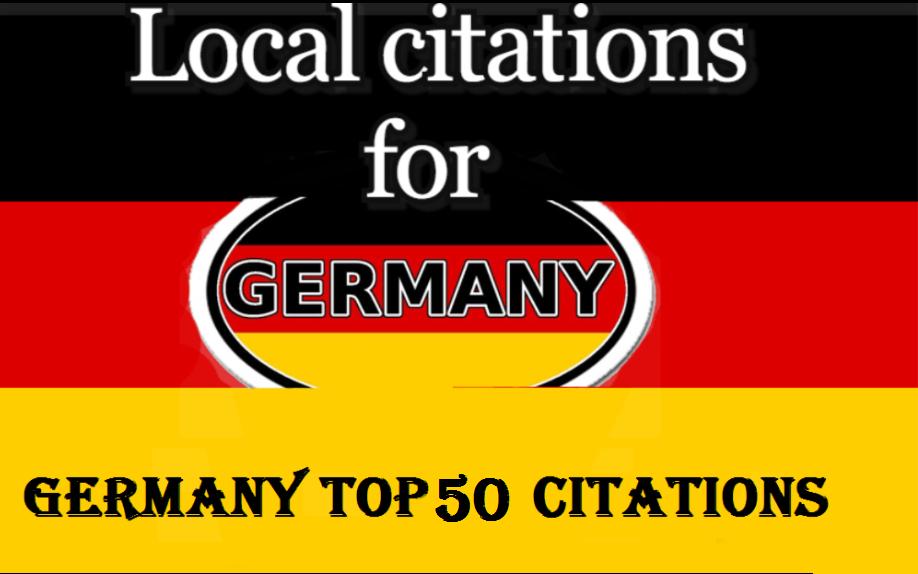I will create 50 germany local citations