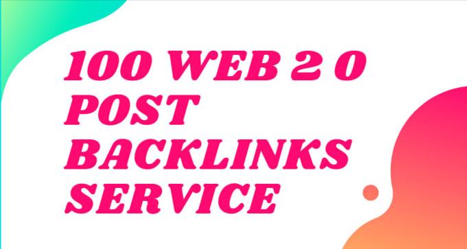 I will do 100 super web 2 0 blogs post SEO backlinks service