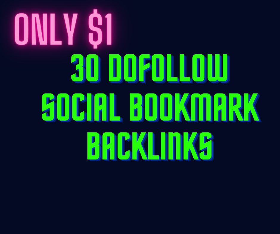 i will provide 30 dofollow socail bookmarking list with submission