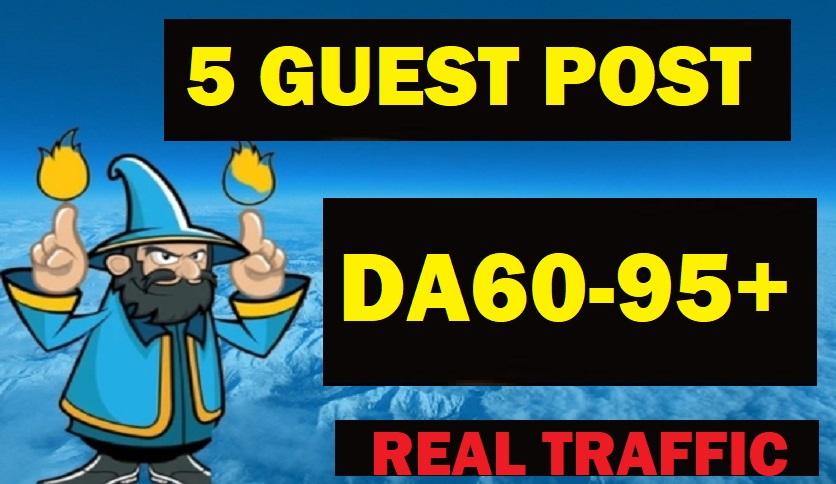 Write And Publish 1 On DA60-95 REAL TRAFFIC Blog