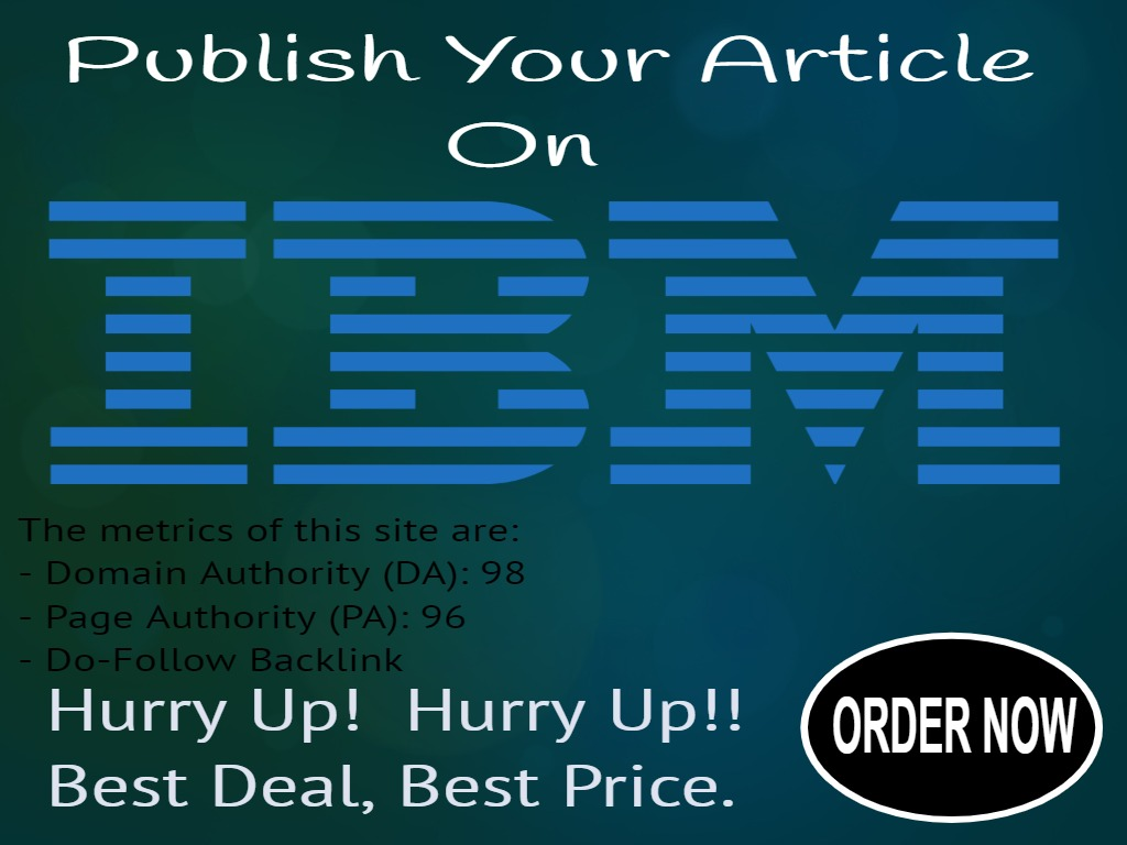 I will publish your article on IBM