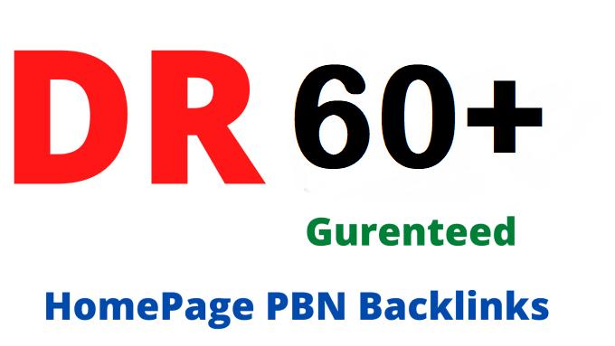 50 DR/DA 60+ Permanant Homepage PBN Backlink
