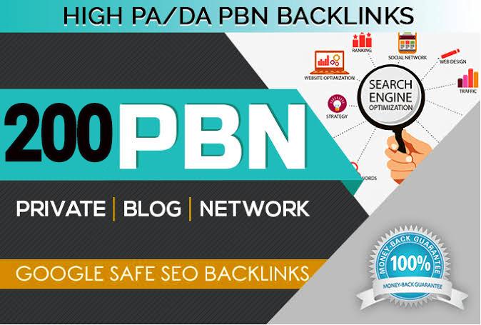 Build 200 Permanent DA 74+ high quality PBN Dofollow Backlink