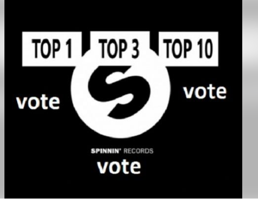 Guaranteed Top One Track Rank Your Spinnin Records Talent Pool Votes for 45