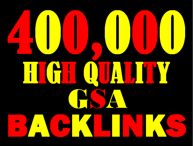 I will create 400,000 highly verified backlinks your website using gsa